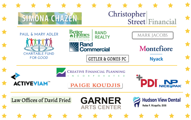 2018 pride ball sponsors: simona Chazen, Christopher street financial, paul and mary adler charitable fund for good, better homes and gardens rand realty, marc jacobs, montefiore nyack, getler & gomes, activeviam, creative financial planning, paige koudjis, pdi nice pak, law offices of david fried